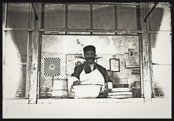 Svetozar Grdijan, Prodavac sira na jednoj beogradskoj pijaci, Borba Fotodokumentacija