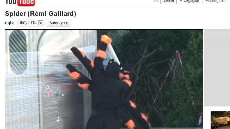 """Remi Gaillard w gagu """"Pająk"""""""