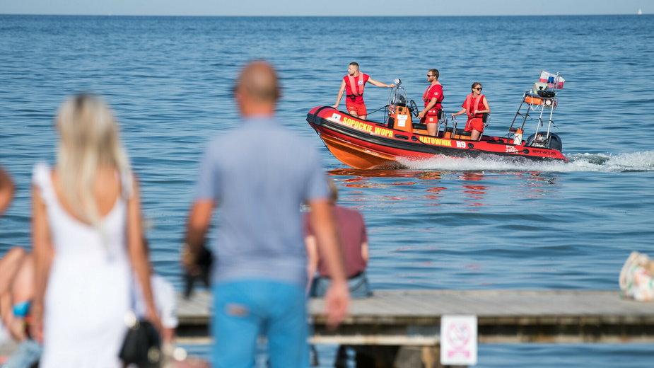 Pomorscy ratownicy w akcji (zdjęcie ilustracyjne)