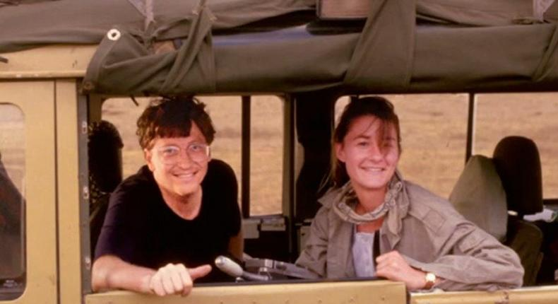 Bill and Melinda Gates on one of their numerous trips to Africa