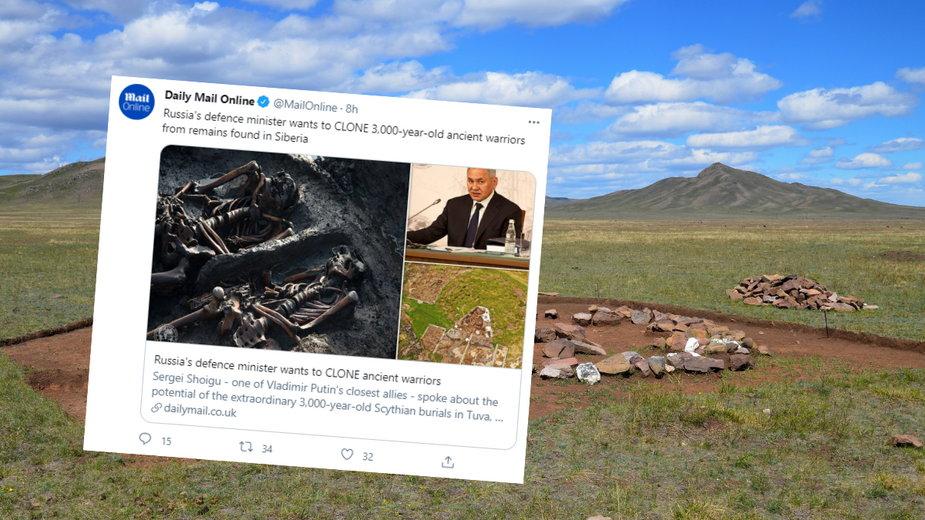 Minister obrony Rosji ma nadzieję na uzyskanie materiału genetycznego ze starożytnego pochówku scytyjskiego