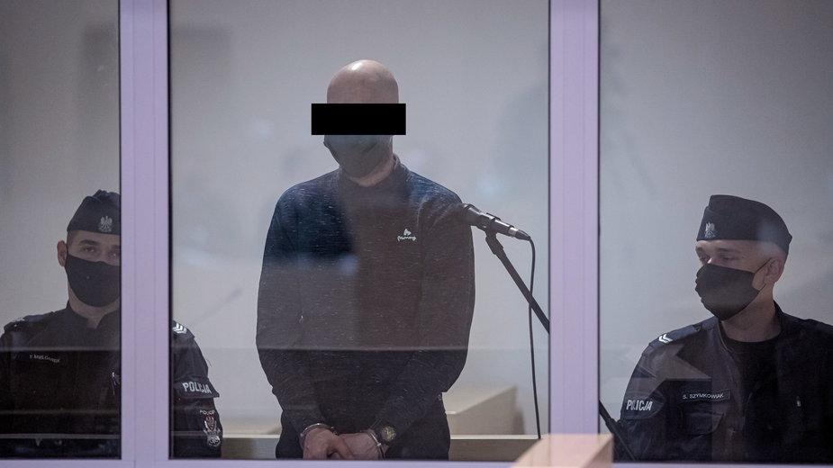 Oskarżony Tomasz J. (C) nigdy nie przyznał się do zabicia żony i wysadzenia kamienicy na poznańskim Dębcu.