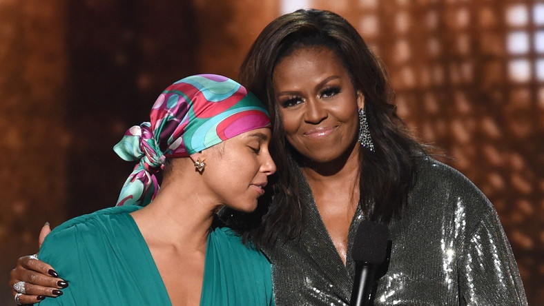 Michelle Obama stuns Grammys audience with surprise appearance