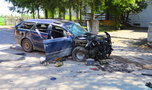 Tajemniczy wypadek pod Lublinem. Samochód małżeństwa uderzył w mur kościoła