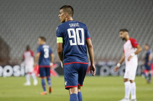 Vujadin Savić zbog povrede nije mogao da igra u drugom poluvremenu