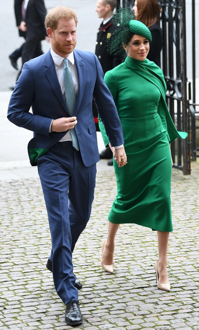 Megan Markl i pricn Hari na proslavi Dana Komonvelta u Londonu