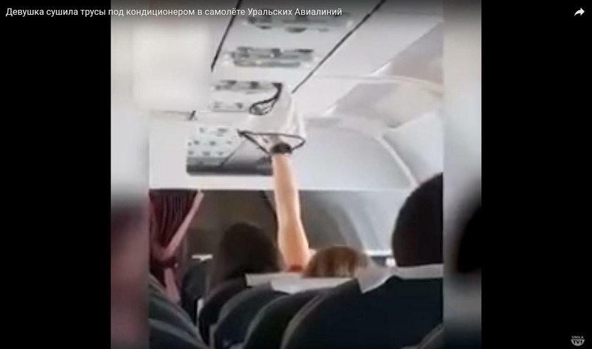 Rosja. Pasażerka suszyła majtki w samolocie