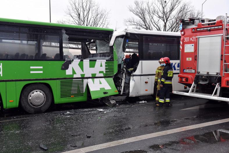 Wypadek autobusu