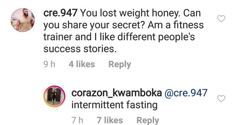 The exchange on Instagram