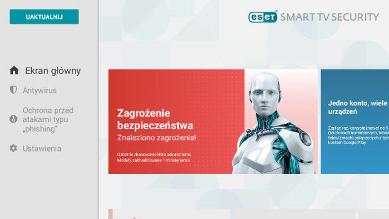 ESET SMART TV SECURITY - pakiet antywirusowy na telewizory z Android TV