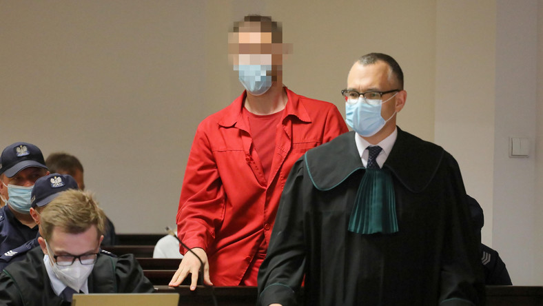Oskarżony Jan S. na sali rozpraw Sądu Okręgowego w Warszawie,