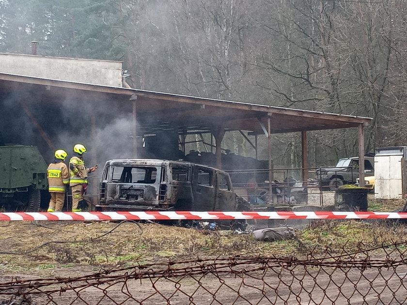 Strażaków wezwano do pożaru samochodu