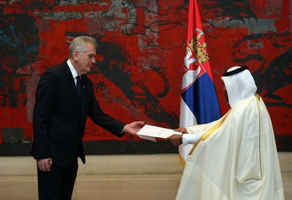Nikolić s ambasadorom Katara