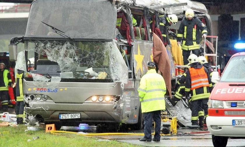 wypadek polskiego autokaru