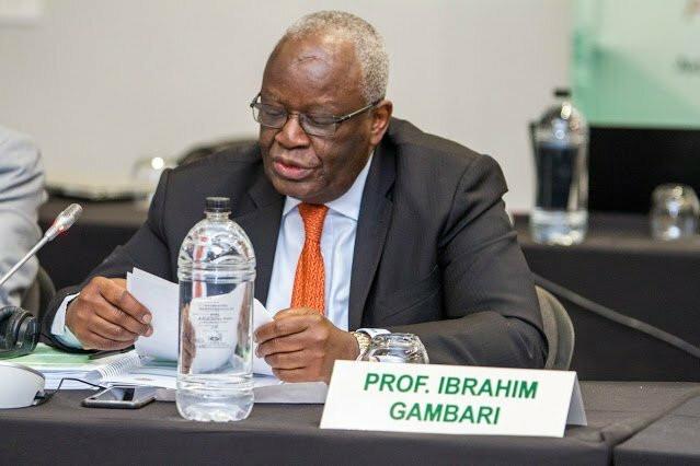 Chief of Staff to President Muhammadu Buhari, Prof. Ibrahim Folorunsho Gambari
