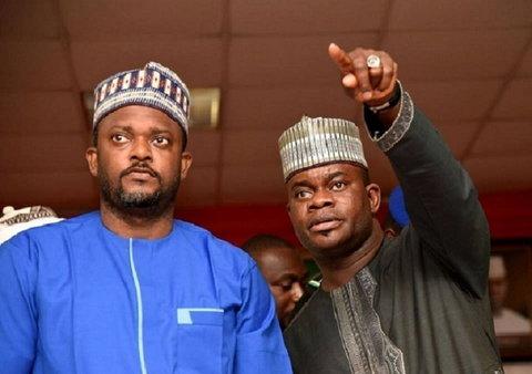 Kogi Governor Yahaya Bello (right) with his Deputy, Edward Onoja [Western Point Nigeria]