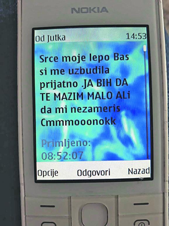 Poruka upućena Sandri Milanović