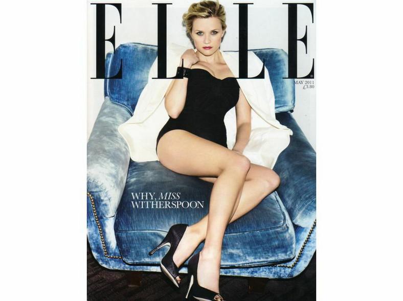 Reese Witherspoon na okładce Elle UK; maj 2011