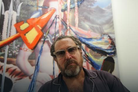 Džulijan Šnabel ispred svoje slike
