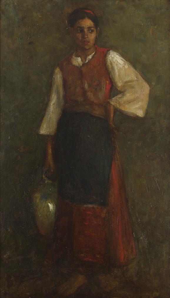 Đorđe Krstić, Devojka sa krčagom, 1883-4.