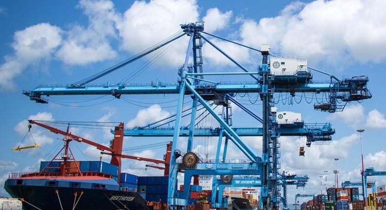 Port of Mombasa.