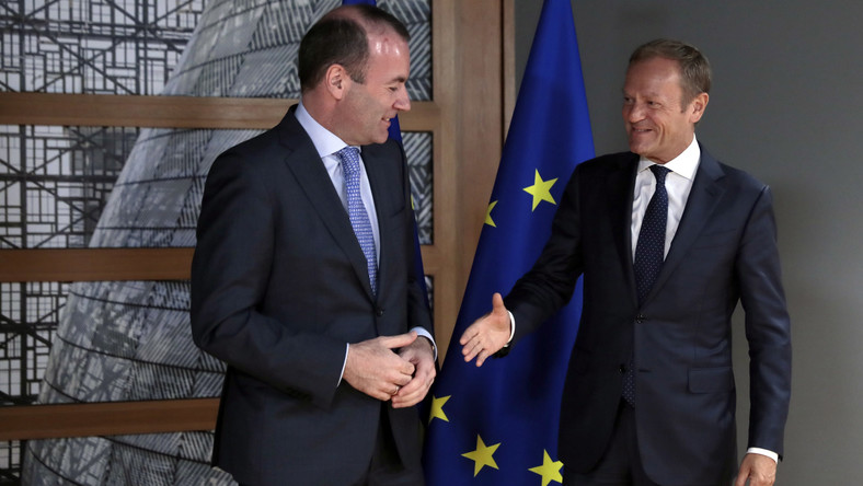 Manfred Weber i Donald Tusk