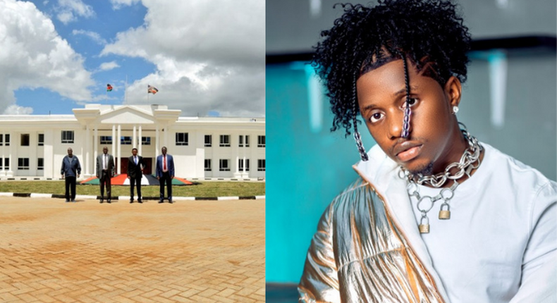 Rayvanny visits Alfred Mutua's state House after Landing in Kenya