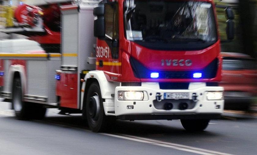 Pożar bloku w Skarżysku-Kamiennej