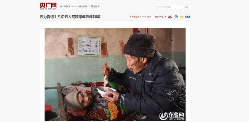 Od 56 lat opiekuje się sparaliżowaną żoną