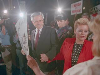 Jim Bakker and Wife Greeting Supporters