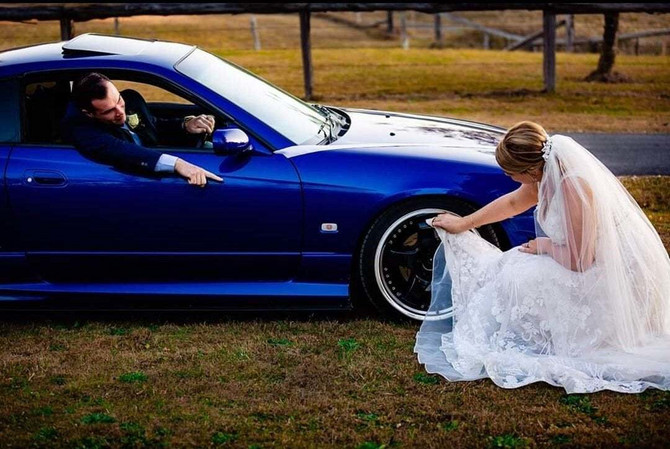 Sporna slika sa venčanja
