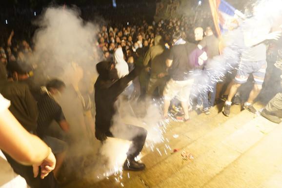Incidenti ispred Doma Narodne skupštine