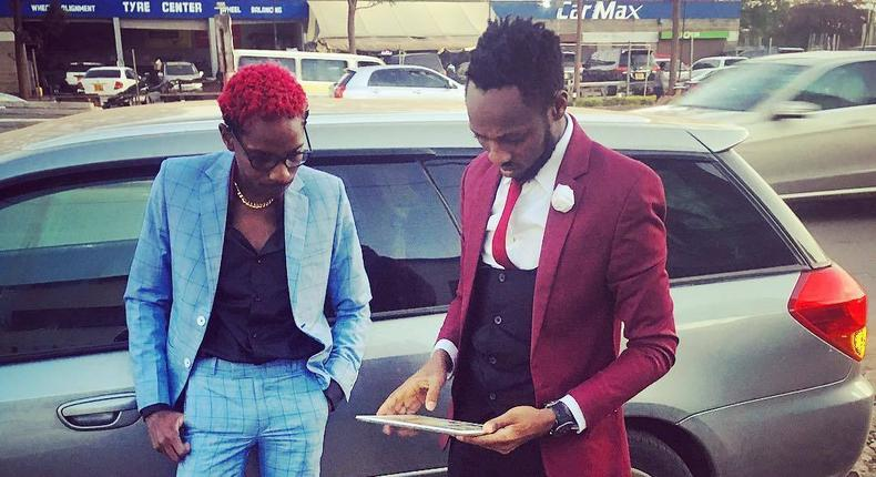 Former Churchill show comedians Eric Omondi and David the Student