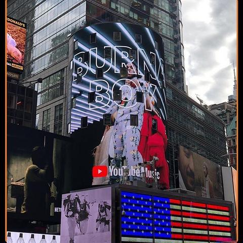 Burna Boy lights up Time Square [Guardian]