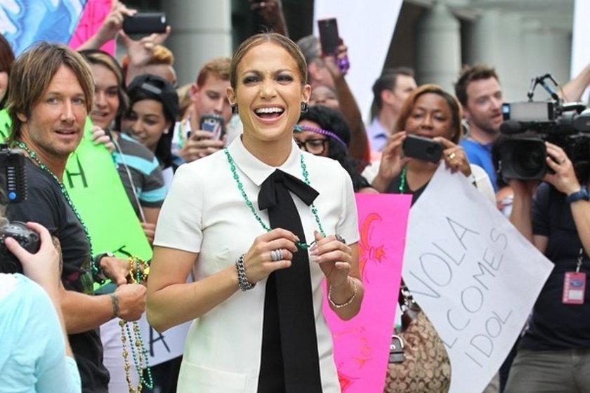 """Jennifer Lopez na nagraniu """"American Idol"""""""