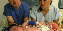 Ten noworodek waży ponad 6 kg! Urodził się bez cesarki!