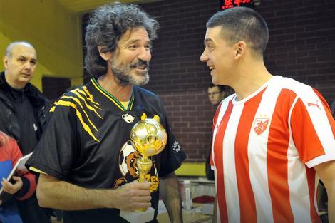 Glumac među fudbalerima: Gagi Jovanović i Stamenkovićev sin Nebojša