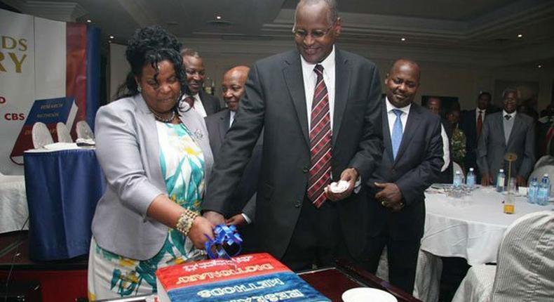 File image of former Kenyatta University VC Olive Mugenda and her husband Prof Abel Mugenda