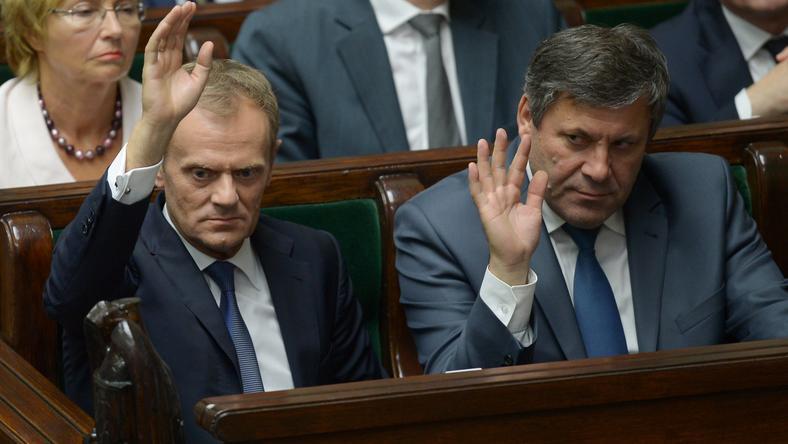 Premier podczas wczorajszego głosowania w Sejmie