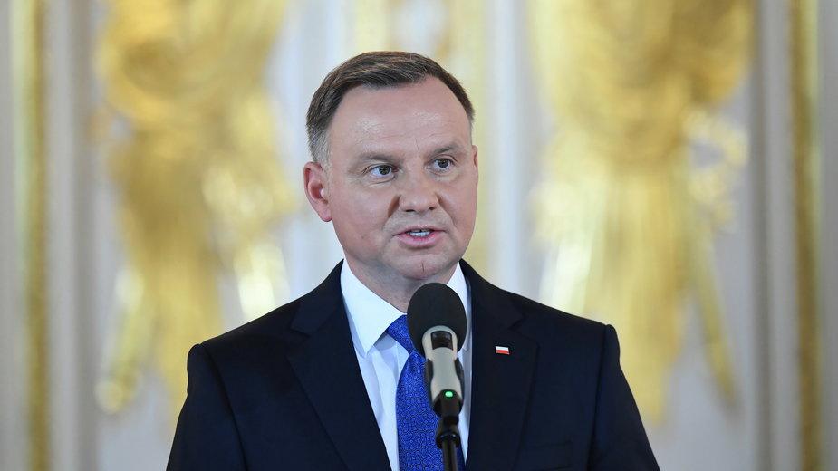 Andrzej Duda przemawia po zaprzysiężeniu na drugą kadencję prezydencką