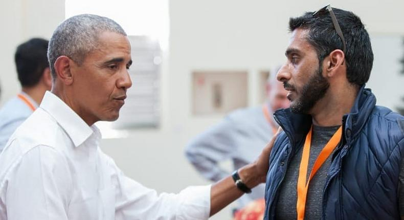 Fareed Khimani with Obama (Instagram)