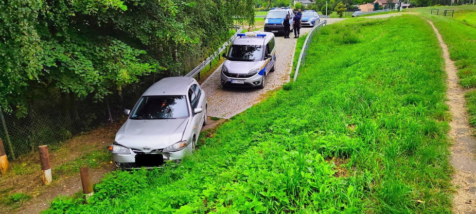 Kolizja kierowcy bez prawa jazdy w Sieradzu