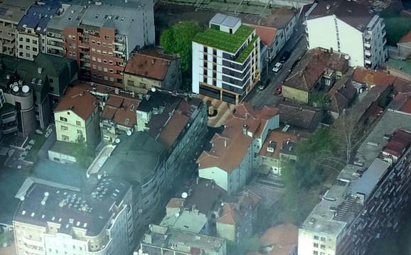 Zgrada na spornoj lokaciji na Vračaru, luksuznom delu Beograda