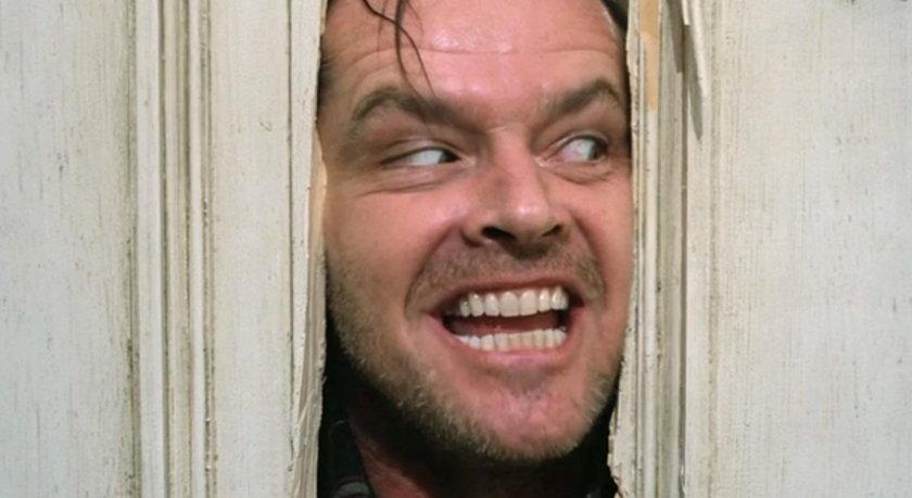 "Jack Nicholson w ""Lśnieniu"""