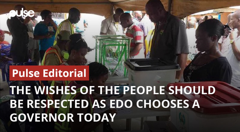 The wishes of the people should be respected as Edo chooses a Governor today [Pulse Editorial]