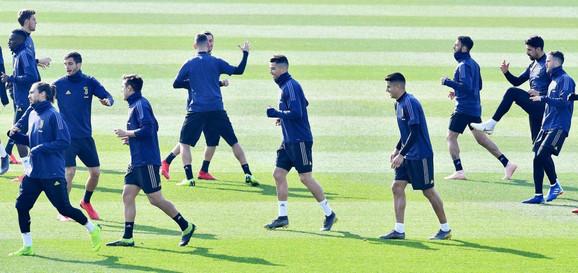 Detalj sa treninga Juventusa