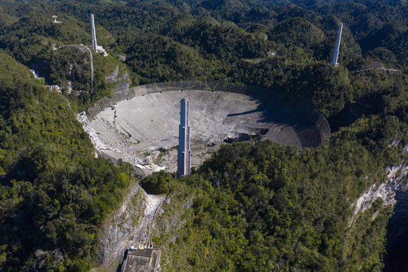 Arecibo telescope damaged