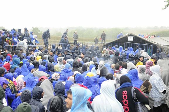 Migranti u ponedeljak na graničnom prelazu Berkasovo
