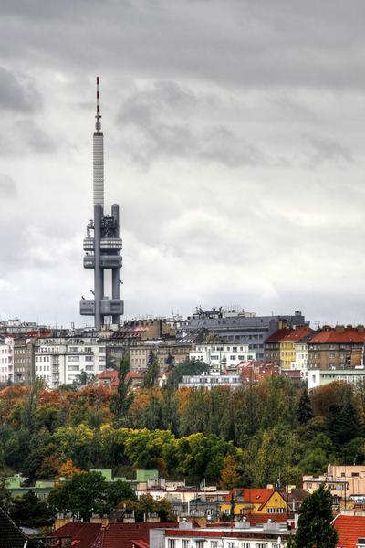 Praga, Zizkov i wieża tv