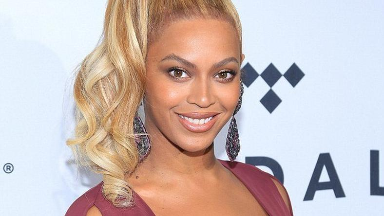 Beyonce stuns in low cut dress at Tidal concert in Brooklyn